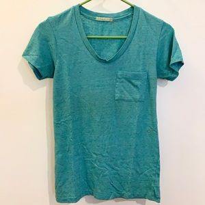 ALTERNATIVE Turquoise T-Shirt with Front Pocket